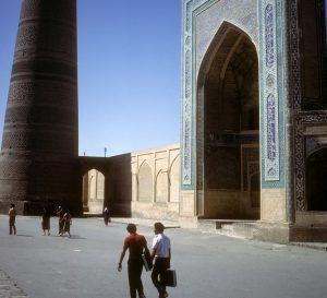 Bokhara, Uzbekistan. Minaret and mosque Bokhara former USSR, now Uzbekistan