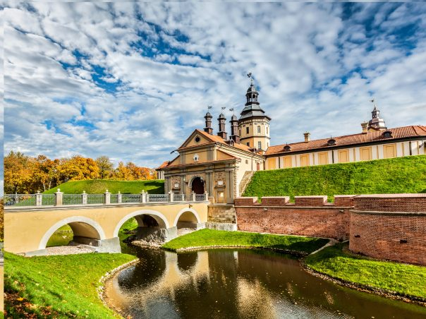 Belarus. Belarusian tourist landmark attraction Nesvizh Castle - medieval castle in Nesvizh, Belarus