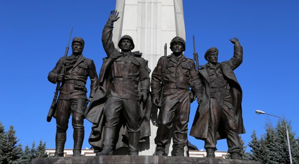 Victory Park in Moscow, Russia. War memorial in Victory Park on Poklonnaya Hill, Moscow, Russia. The memorial complex constructed in memory of those who died during the Great Patriotic war