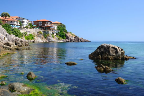 Bulgaria. Black Sea coast in ancient town of Sozopol in Bulgaria