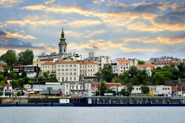 The Balkans. Belgrade cityscape on Danube