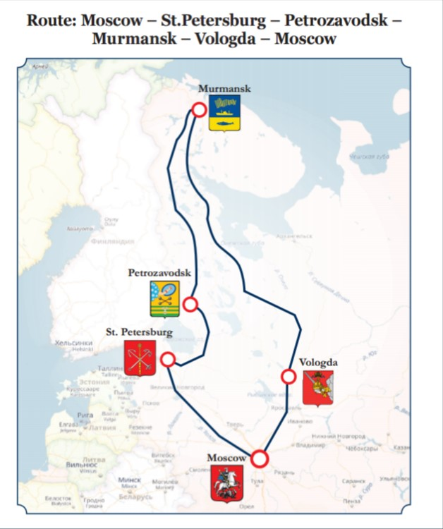 New Year in Arctic Circle tour. The route.
