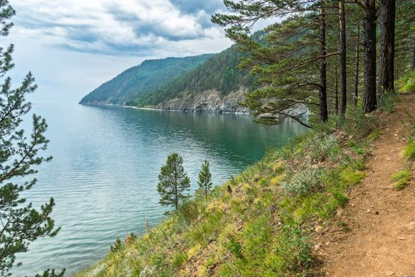 Listvyanka - the Most Popular Baikal Village. Great Baikal Trail between Listvyanka and Big Koty, Siberia