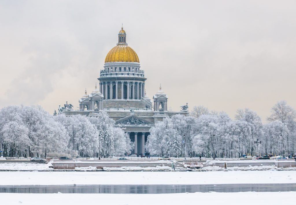 St Petersburg in winter.