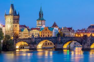Mysteries of Minsk, Prague and Dresden Tour. Moldau river at night