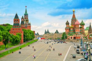 Glorious Russian Capitals: Moscow and St. Petersburg. Red Square, Moscow