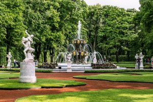 Glorious Russian Capitals: Moscow and St. Petersburg. Summer Garden in St. Petersburg